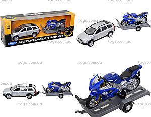 Игровой набор «Машина VOLVE XC90 и мотоцикл TRIUMPH 2002 DAYTONA 955», 39884F-2G(A)
