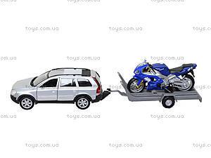 Игровой набор «Машина VOLVE XC90 и мотоцикл TRIUMPH 2002 DAYTONA 955», 39884F-2G(A), цена