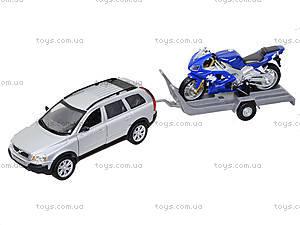 Игровой набор «Машина VOLVE XC90 и мотоцикл TRIUMPH 2002 DAYTONA 955», 39884F-2G(A), игрушки