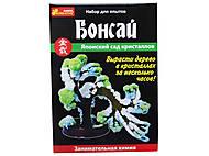 Набор для творчества «Японский сад кристаллов: Бонсай», 0349, купить