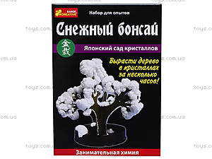 Набор для выращивания кристаллов «Снежный бонсай», 0352