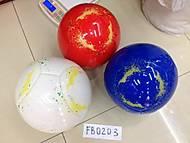 Глянцевый футбольный мяч с рисунком, FB0203, фото