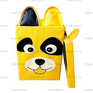 Ящик для игрушек с крышкой «Собака»,