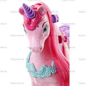 Единорог Barbie серии «Сказочно-длинные волосы», DHC38, фото