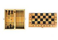 """Игра 2 в 1 """"Шахматы и нарды"""", на деревянной доске, IGR43, фото"""