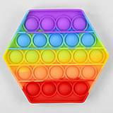 Игра антистресс Pop it 13 см, 24 пупырки, C45483, детские игрушки