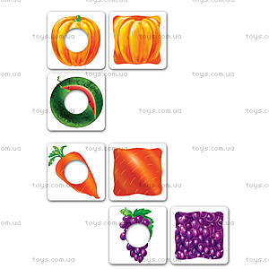 Игра для дошкольников «Фрукты, овощи», VT1306-06, детские игрушки