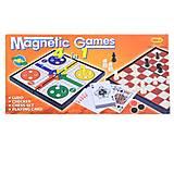 """Игра магнит.""""Шашки-шахматы-нарды"""" 4в1, в коробке, 9888A, купить игрушку"""