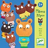 Настольная игра «Мемо Мишки», DJ08112, фото
