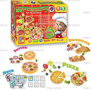 Игра на магнитах  «Готовим с Машей и Медведем», VT3002-01, детские игрушки