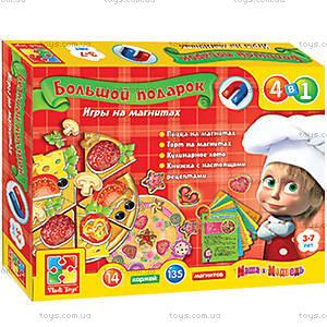 Игра на магнитах  «Готовим с Машей и Медведем», VT3002-01, toys.com.ua