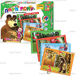 Игра на магнитах с Машей «Времена года», VT3304-12, toys