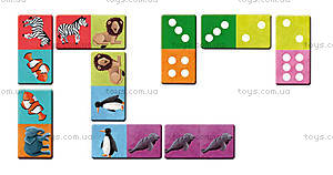 Игра настольная-домино «Экзотические животные», J02981, купить