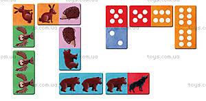 Игра настольная-домино «Лесные животные», J02980, купить