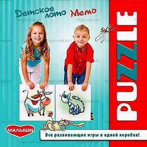 Игра развивающая «Детское лото. Мемо», ПЛ9028