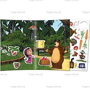 Игра с мягкими наклейками «Маша и Медведь», VT4206-1920, іграшки
