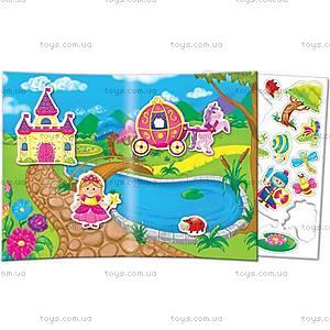 Игра с мягкими наклейками «Принцесса и рыцарь», VT4206-17, іграшки