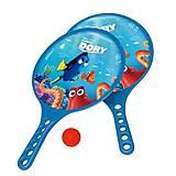 Игра с ракетками «В поисках Дори» с мячиком, JN73227