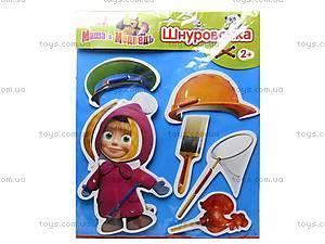 Игра-шнуровка «Маша-строитель», 3104-3, купить