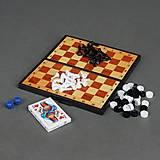 Игральный набор 3 в 1 с картами, 5240