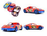 Игровая спортивная машина с наклейками, 07-702-1N, фото