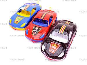 Игровая спортивная машина с наклейками, 07-702-1N, магазин игрушек