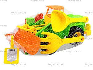 Игровой экскаватор с набором для песка, 39158, детский