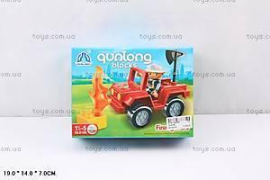 Игровой конструктор «Джип пожарника», QL6169