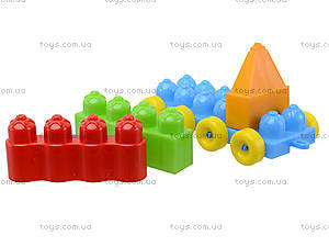 Игровой конструктор для детей «Поезд с прицепом», 02-409, цена
