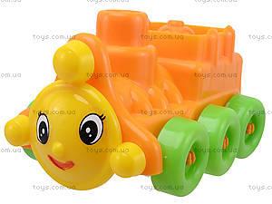 Игровой конструктор для детей «Поезд с прицепом», 02-409, игрушки