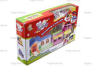 Игровой кукольный дом с мебелью, 32513A, toys