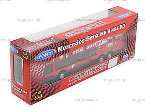 Игровой металлический автобус Welly, 52190W, фото