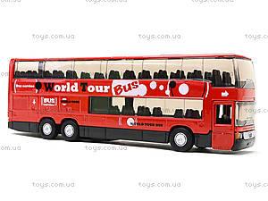 Игровой металлический автобус Welly, 52190W, игрушки