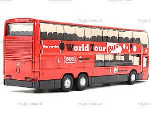 Игровой металлический автобус Welly, 52190W, детские игрушки
