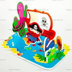 Игровой набор для ванной «3D-сцена Остров сокровищ», MK 036, купить