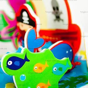 Игровой набор для ванной «3D-сцена Остров сокровищ», MK 036, фото