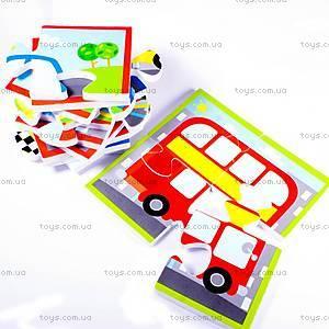 Игровой набор для ванной «Пазл Транспорт», MK 315, фото