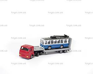 Игровой набор «Городской автотранспортер», SB-15-04-WB, детские игрушки