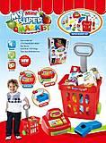 Игровой набор магазин «Кассовый аппарат и тележка», 661-84, фото