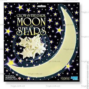 Набор светящихся наклеек «Месяц и звезды», 00-05215