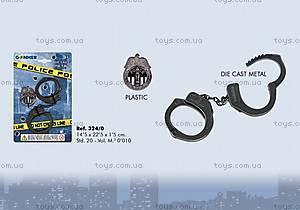 Игровой набор полицейского с наручниками, 324/0, фото