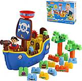 Игровой набор «Пиратский корабль» с конструктором, 62246, фото