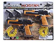 Игровой набор с пистолетами и свистками, 608B, фото