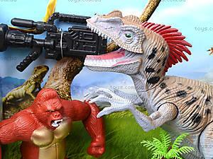 Динозавр игровой набор с аксесс, свет, звук, 800-64, фото