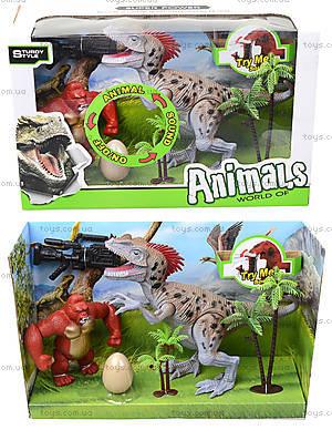 Динозавр игровой набор с аксесс, свет, звук, 800-64