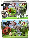 Динозавр игровой набор с аксесс, свет, звук, 800-64, купить