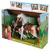 Игровой набор с двумя бело-рыжими лошадками , 432 5615-1, отзывы