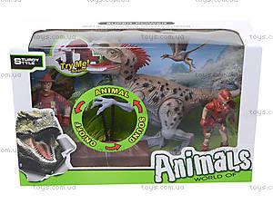 Игровой набор с динозавром и аксессуарами, 800-65, цена