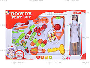 Игровой набор с куклой «Доктор», 1001-1, цена