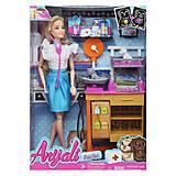 """Игровой набор с куклой """"Ветеринар"""" в синей юбке, 311-1/2, фото"""